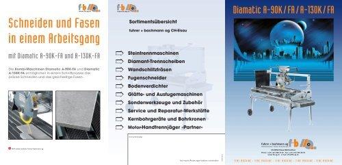 Diamatic A-90K/FA/A-130K/FA - fuhrer+bachmann AG