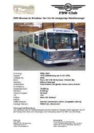 FBW Flughafen-Vorfeldbus BAX Chassis 6646, Jg. 1978 - Fbw-Club