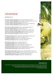 WEISSWEINE - Holzpoldl