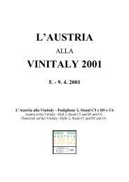 L'AUSTRIA VINITALY 2001 - Österreich Wein