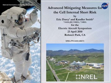 Advanced Mitigating Measures for the Cell Internal Short Risk - NREL