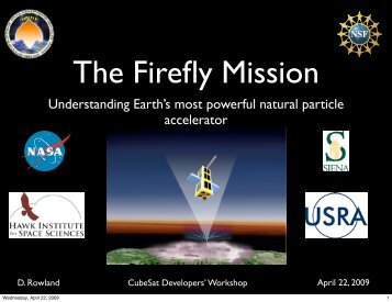 The Firefly CubeSat Mission