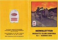 Newsletter 01 Juli 2006 als PDF Datei (Bericht - Bugatti Club Austria