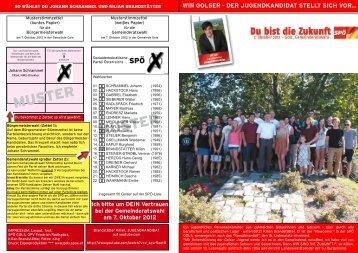 Jugendbrief - SPÖ Gols
