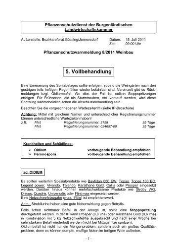 Pflanzenschutzdienst der Burgenländischen Landwirtschaftskammer
