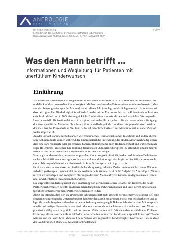 PDF -> Was den Mann betrifft (16 Seiten) - Dr. med. Peter Fehr