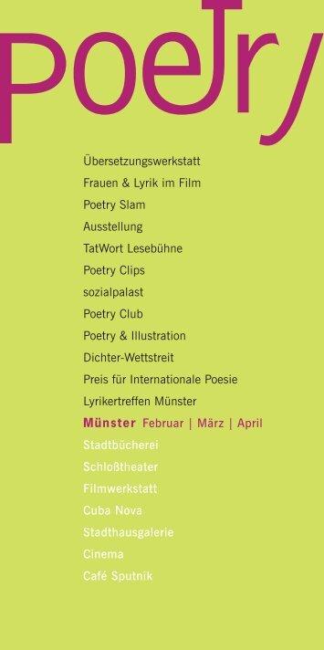 poetry-Broschüre - Lyrikertreffen Münster - Stadt Münster