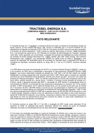 TRACTEBEL ENERGIA S.A.