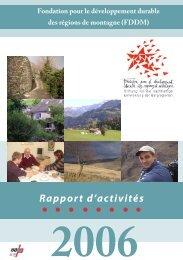 Annual Report 3 - Fondation pour le développement durable des ...
