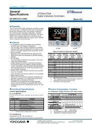 Controller Regler YOKOGAWA UT55A UT52A ... - nbn Elektronik AG