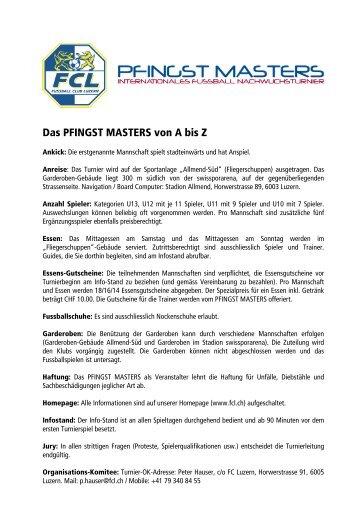 Das PFINGST MASTERS von A bis Z - FC Luzern