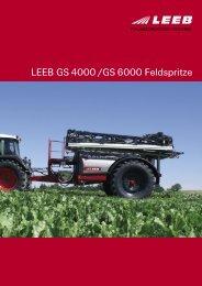 LEEB GS 4000 /GS 6000 Feldspritze
