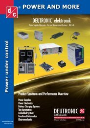 POWER AND MORE DEUTRONIC elektronik