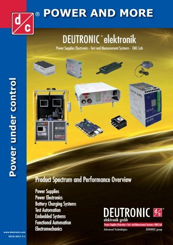 POWER AND MORE DEUTRONIC elektronik