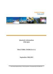 Quarterly information ITR-3Q12 TRACTEBEL ENERGIA S.A. ...