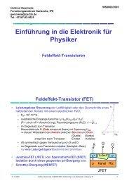 Einführung in die Elektronik für Physiker - FZK