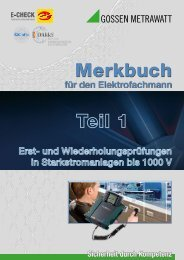 Merkbuch M - Gossen-Metrawatt