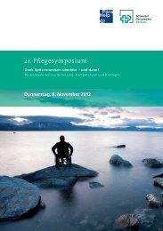 Programm 21. Pflegesymposium 2012 - Schweizer Paraplegiker ...