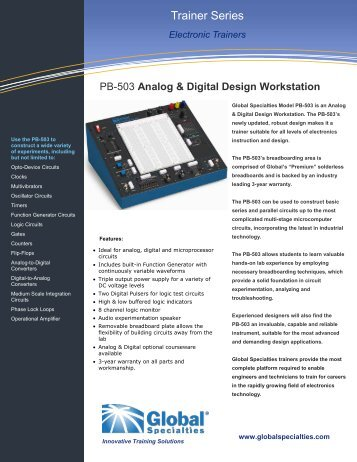 GS-PB503 - Analog & Digital Design Workstation ... - BK Precision