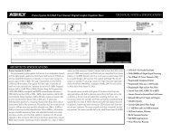 Spec Sheet - Ashly Audio