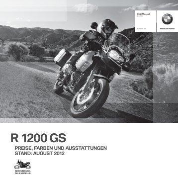 Preisliste R 1200 GS - BMW Motorrad