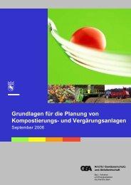 Grundlagen für die Planung von Kompostierungs - Bau-, Verkehrs ...