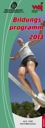 Bildungsprogramm 2013 - Landessportverband Baden-Württemberg