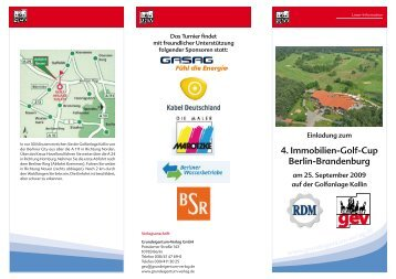 4. Immobilien-Golf-Cup Berlin-Brandenburg - RDM