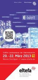 Besucherprospekt eltefa 2013 im PDF-Format