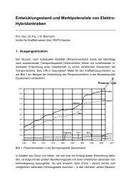 Entwicklungsstand und Marktpotenziale von Elektro ... - ika