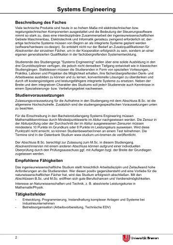 Systems Engineering - Fachbereich 4 Produktionstechnik ...