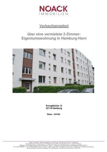 Eigentumswohnung in Hamburg-Horn - Noack Immobilien