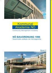 NÖ Bauordnung 1996 - Kommunalakademie Niederösterreich