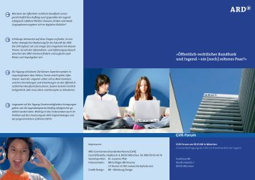 Programm des Forums [pdf] - ARD