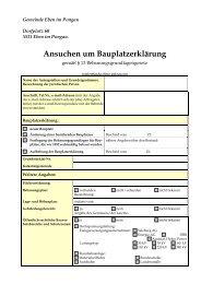 Ansuchen um Bauplatzerklärung - Gemeinde Eben