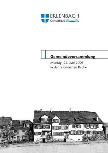 Gemeindeversammlung - Gemeinde Erlenbach