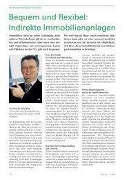 Bequem und flexibel: Indirekte Immobilienanlagen