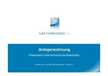 C & P Anlegerwohnung - Österreichische Apothekerbank