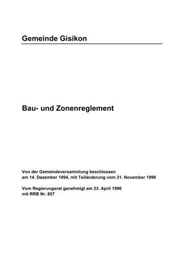 Grundblatt BZR - Gemeinde Gisikon
