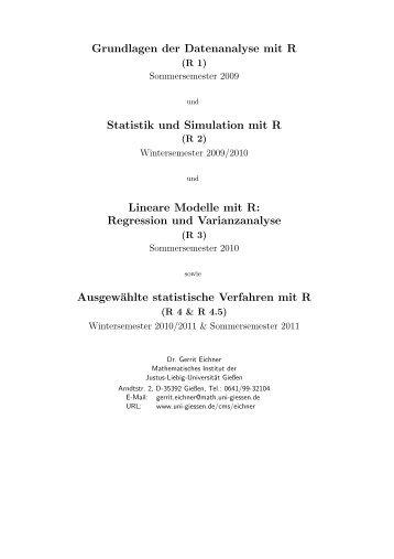 Grundlagen der Datenanalyse mit R Statistik und Simulation mit R ...