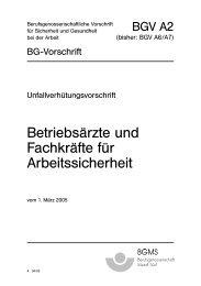 BGV A2 Betriebsärzte und Fachkräfte für Arbeitssicherheit ... - GUSIK