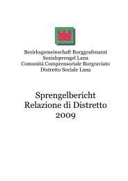 Bericht Sprengel Lana 2009 dt - Bezirksgemeinschaft Burggrafenamt