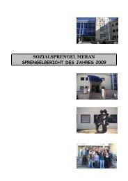 Bericht Sprengel Meran 2009 dt - Bezirksgemeinschaft Burggrafenamt