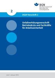 DGUV-Vorschrift 2 - Arbeitsschutz Boerse