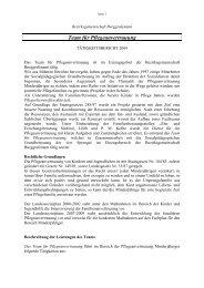 Bericht Familiäre Anvertrauung 2009 - Bezirksgemeinschaft ...