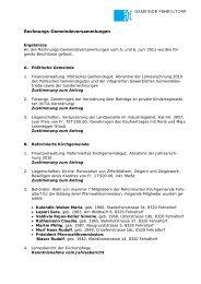 Rechnungs-Gemeindeversammlungen - Gemeinde Fehraltorf