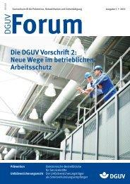 Die DGUV Vorschri 2: Neue Wege im betrieblichen Arbeitsschutz ...
