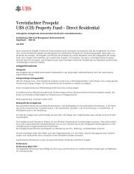 Vereinfachter Prospekt UBS (CH) Property Fund ... - fundinfo.com