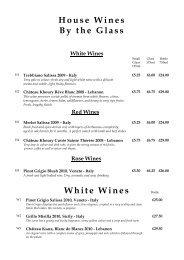Noura Wine List April 2012