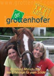 Beziehung Mensch-Tier, neue Erfahrungen für ... - Grottenhof-Hardt